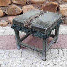 Vintage: TABURETE, BANQUETA O SILLA DESCALZADORA ANTIGUA.. Lote 141952902