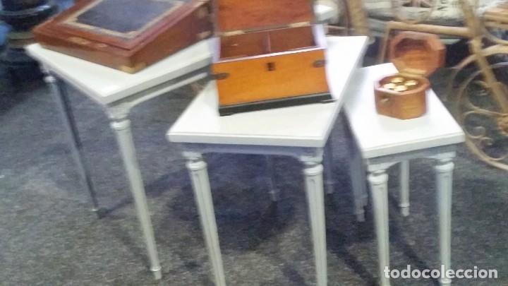TRES MESITAS NIDO. AÑOS CINCUENTA. RECUPERADAS. (Vintage - Muebles)