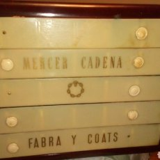 Vintage: MUEBLE MERCER CADENA FABRA Y COATS. Lote 143627042