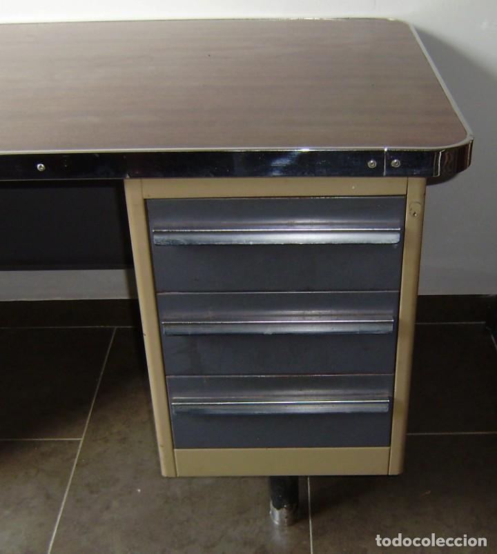 Vintage: Mesa de despacho,escritorio estilo industrial. - Foto 2 - 143890330