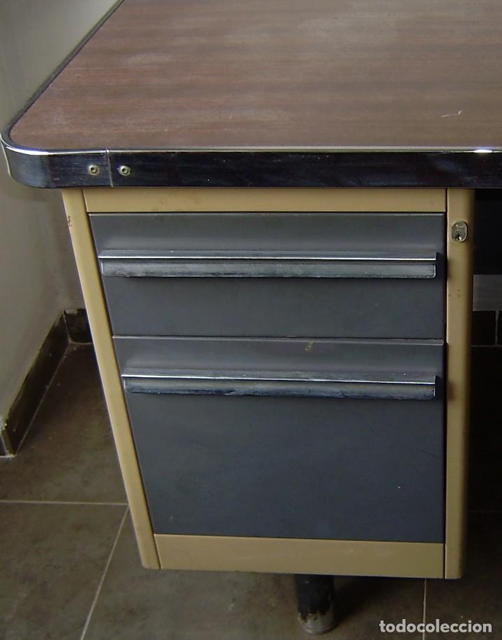Vintage: Mesa de despacho,escritorio estilo industrial. - Foto 3 - 143890330