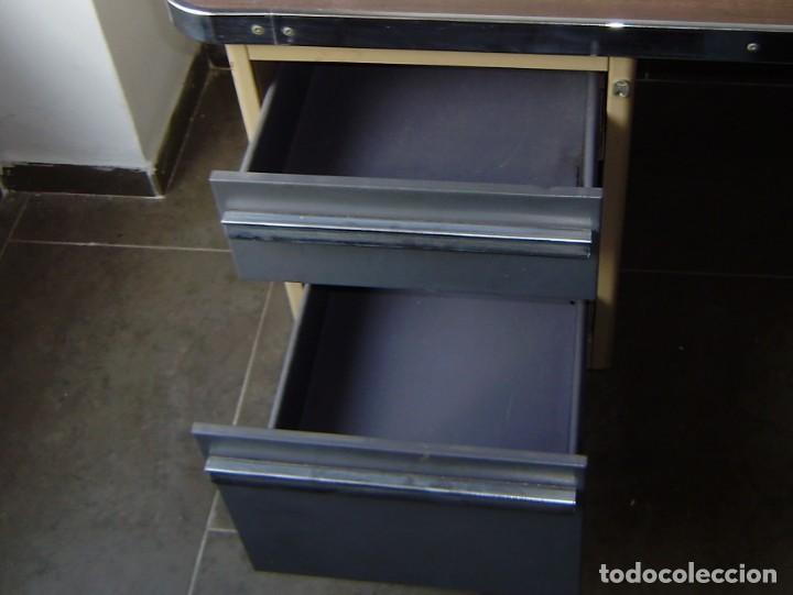 Vintage: Mesa de despacho,escritorio estilo industrial. - Foto 4 - 143890330