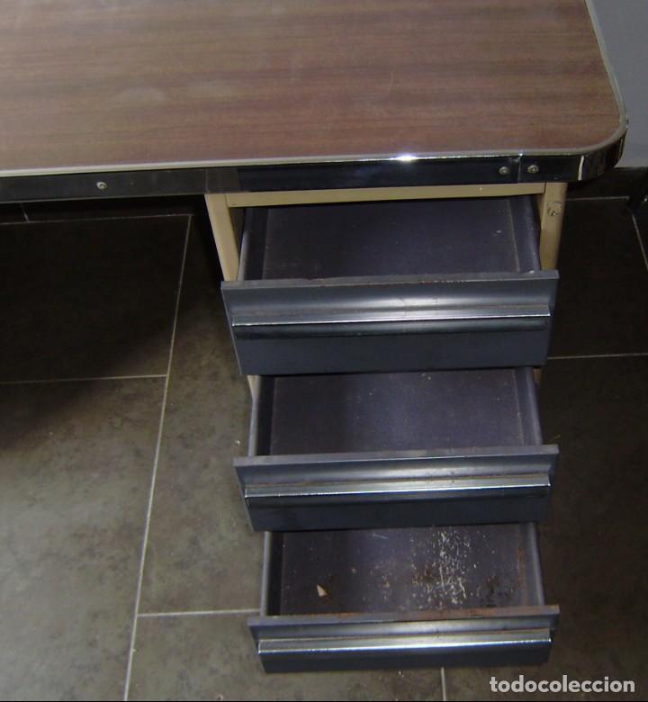 Vintage: Mesa de despacho,escritorio estilo industrial. - Foto 5 - 143890330