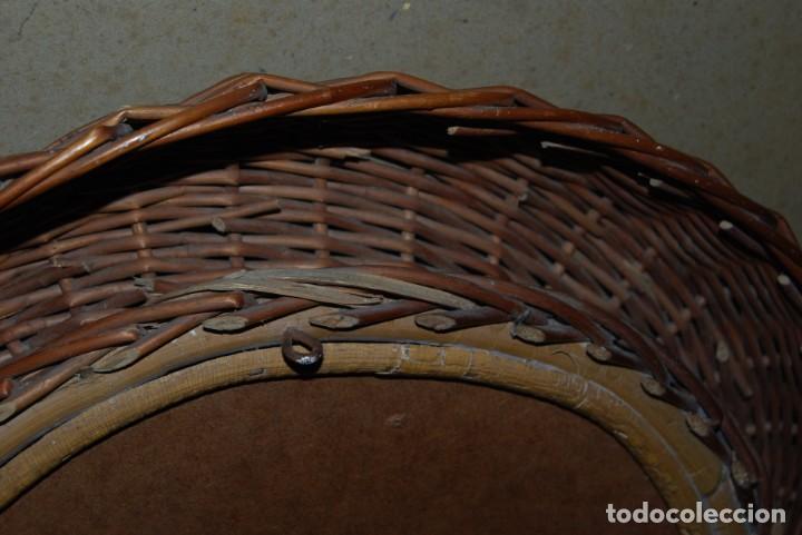 Vintage: ORIGINAL ESPEJO REDONDO DE MIMBRE - AÑOS 70 - Foto 7 - 144210770