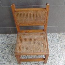 Vintage: PEQUEÑA SILLA,MADERA DE PINO CON REJILLA.. Lote 144731494