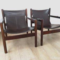 Vintage: PAREJA DE SILLONES ROXINHO SAFARI DE MICHEL ARNOULT, 1960S. Lote 144839970