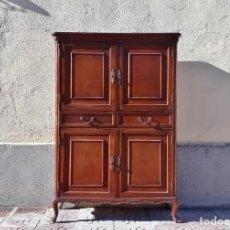 Vintage: MUEBLE BAR ANTIGUO MUEBLE AUXILIAR ANTIGUO, ALACENA ANTIGUA VINTAGE ESTILO RÚSTICO FRANCÉS LUIS XV.. Lote 147088706