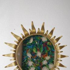 Vintage: ESPEJO SOL DE HIERRO FORJADO - FORJA - AÑOS 60. Lote 147399206