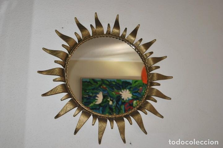 Vintage: ESPEJO SOL DE HIERRO FORJADO - FORJA - AÑOS 60 - Foto 2 - 147399206