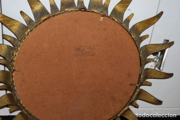 Vintage: ESPEJO SOL DE HIERRO FORJADO - FORJA - AÑOS 60 - Foto 8 - 147399206