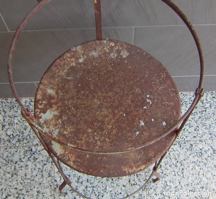 Vintage: Antiguo palanganero de hierro. - Foto 5 - 148241006