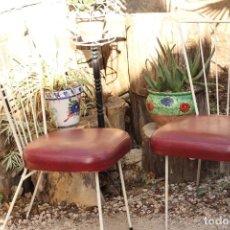 Vintage: MARAVILLOSAS SILLAS VINTAGE AÑOS 50 HIERRO PATAS BAMBI RETRO SKAY ROCKABILLY BAUHAUS. Lote 149835102