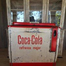 Vintage: ANTIGUA NEVERA COCA-COLA COCACOLA RETRO VINTAGE DE BAR. Lote 210191911