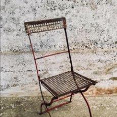 Vintage: SILLA METÁLICA PLEGABLE INDUSTRIAL . Lote 151084378