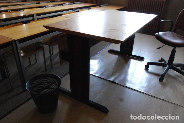 mesa sin cajones de oficina en madera y metal l - Kaufen Vintage ...