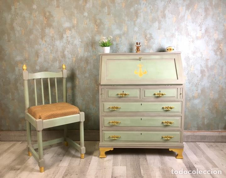 MUEBLE ESCRITORIO Y SILLA VINTAGE (Vintage - Muebles)