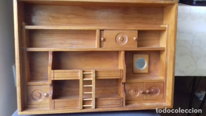 ESTANTERIA MADERA DECORACIÓN PARA MUÑECAS (Vintage - Muebles)