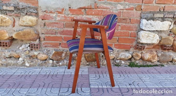 Vintage: Silla antigua vintage estillo danés. Silla descalzadora estilo escandinavo. Silla para escritorio. - Foto 2 - 155103950