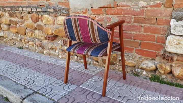 Vintage: Silla antigua vintage estillo danés. Silla descalzadora estilo escandinavo. Silla para escritorio. - Foto 3 - 155103950