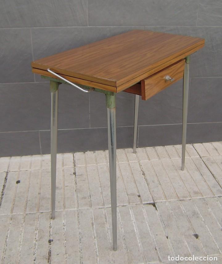 Vintage: Mesa de cocina extensible.Años 60. - Foto 7 - 155323566