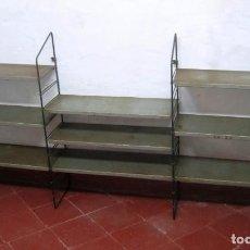 Vintage - Estantería NORDICA MODULAR METALICA - Industrial de colgar - Vintage estado original - 159142608
