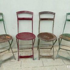 Vintage: SILLAS DE HIERRO -. Lote 155758638