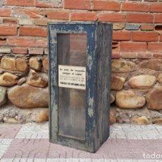Vintage: ARMARIO PARA EXTINTOR. MUEBLE CAJA VITRINA ANTIGUA DE EXTINTOR ANTIGUO ESTILO INDUSTRIAL VINTAGE.. Lote 155836242