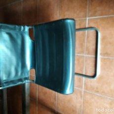 Vintage: 4 SILLAS ACERO Y CUERO. Lote 156028658