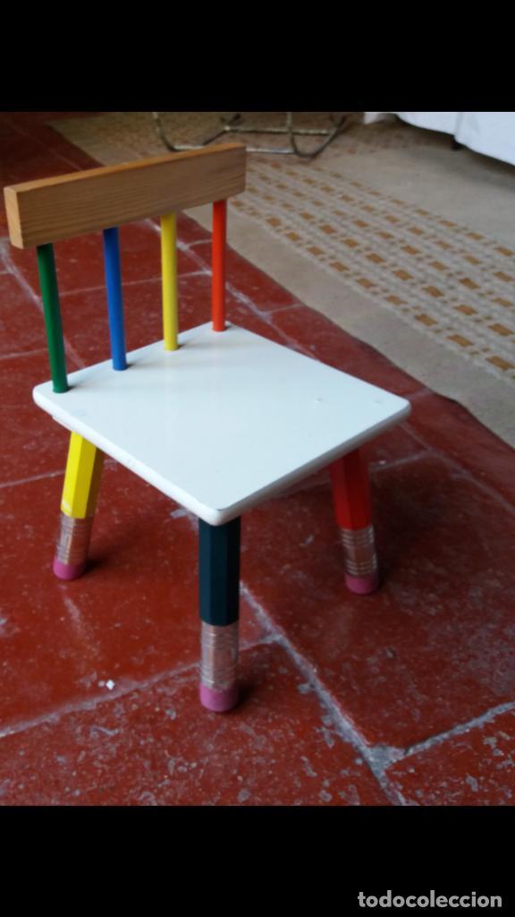 COLORISTA Y GRACIOSA SILLITA INFANTIL (Vintage - Muebles)