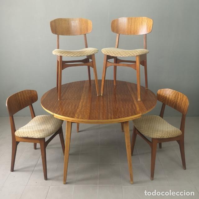 fantástico juego mesa comedor extensible y 4 si - Kaufen Vintage ...