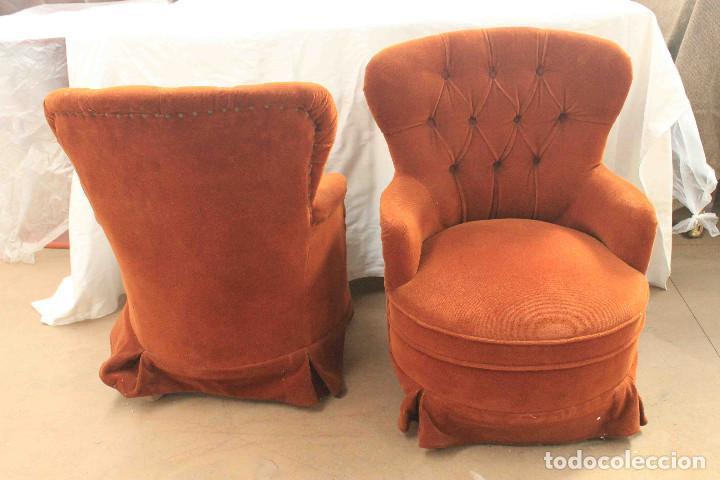 PAR SILLONES DE ALCOBA (Vintage - Muebles)