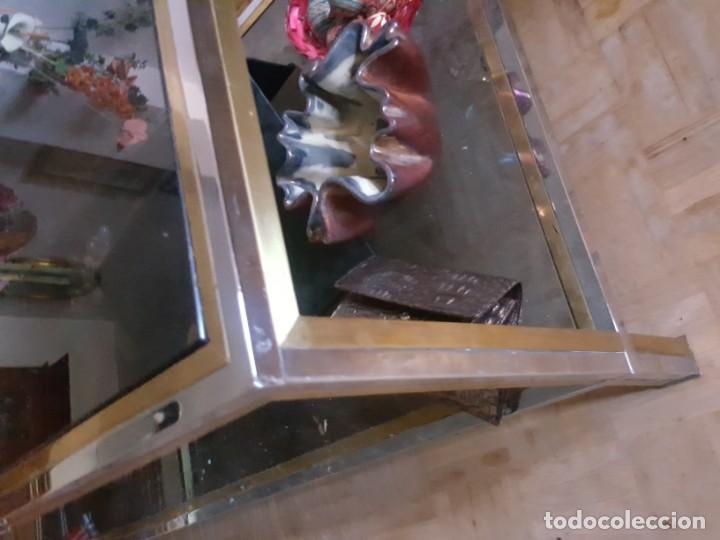 Vintage: MESA BAJA EN METAL DORADO Y PLATEADO, TOTALMENTE VINTAGE! - Foto 6 - 158643382