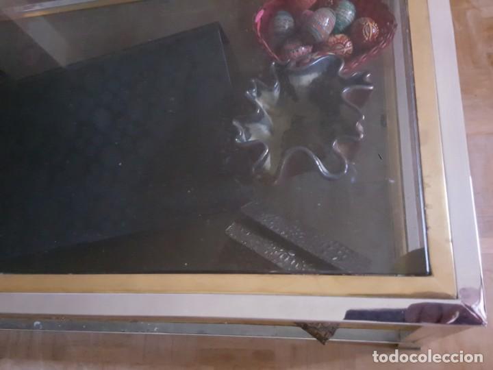 Vintage: MESA BAJA EN METAL DORADO Y PLATEADO, TOTALMENTE VINTAGE! - Foto 7 - 158643382