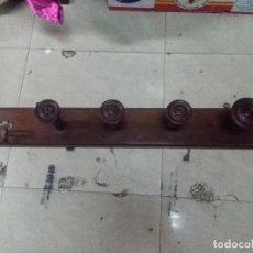 Vintage: ANTIGUO PERCHERO EN CAOBA MEDIDAS 100X14 CM. BUEN ESTADO. Lote 159212666