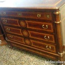 Vintage: COMODA PALMA DE CAOBA CON MARQUETERIAS, MEDIDAS 139 X 52 X 106. Lote 160235494