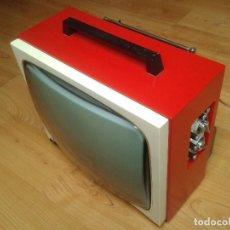 Vintage: TELEVISOR -- ORIGINAL VINTAGE -- ELBE -- AÑOS 70 -- TV -- ROJO Y BLANCO. Lote 160345722