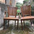 Vintage: 2 SILLAS DE BRAZOS EN NOGAL ESTILO FRANCÉS . Lote 160587126