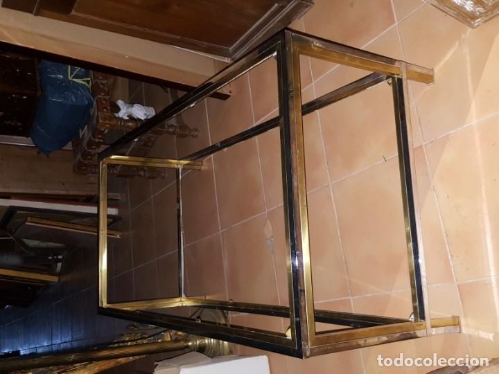 Vintage: MESA BAJA EN METAL DORADO Y PLATEADO, TOTALMENTE VINTAGE! - Foto 2 - 158643382