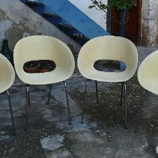 Vintage: 4 SILLAS DE RON ARAD - APILABLES. SUPER VINTAGE. Lote 162911898