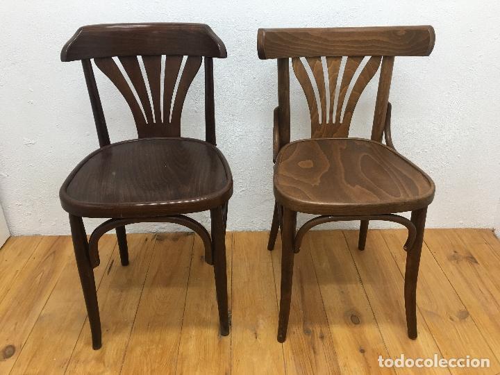 2 SILLAS DE BAR, ESTILO THONET, NUEVAS SIN USO (Vintage - Muebles)