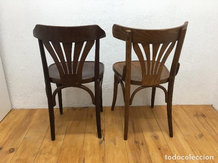 Vintage: 2 SILLAS DE BAR, ESTILO THONET, NUEVAS SIN USO - Foto 3 - 163758186