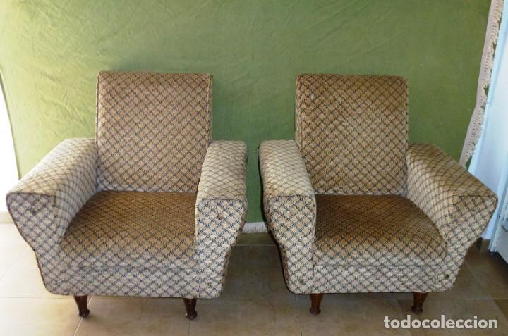 PAREJA DE SILLONES EN EXCELENTE ESTADO. (Vintage - Muebles)