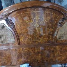 Vintage: CABEZAL CAMA VINTAGE MADERA RAIZ. Lote 166250642