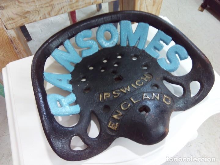 Vintage: ANTIGUO ASIENTO DE TRACTOR. RANSOMES. ENGLAND - Foto 9 - 166888724