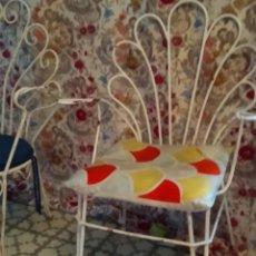 Vintage: PAREJA SILLONES TERRAZA HIERRO. Lote 168065044