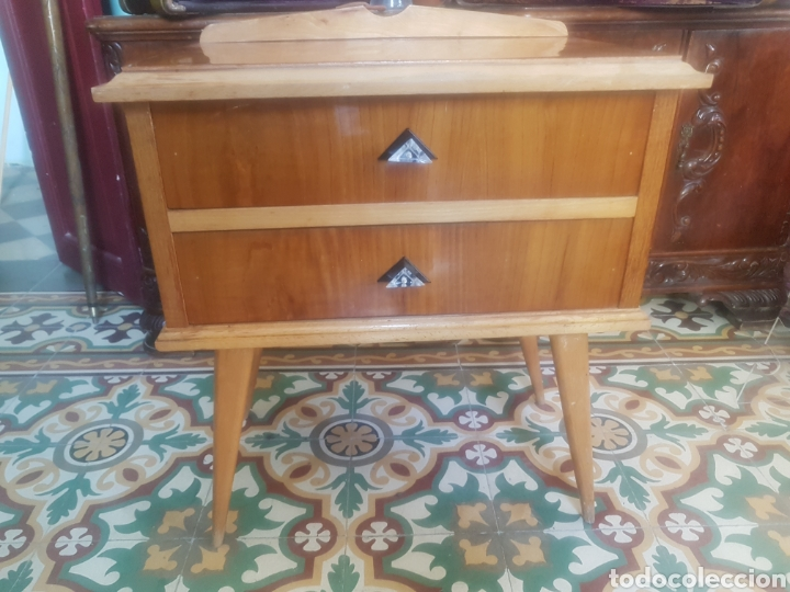 MESITA DE NOCHE ESTILO FRANCESA PATAS BAMBI DESMONTABLES ENVIO PENINSULA 12€ (Vintage - Muebles)