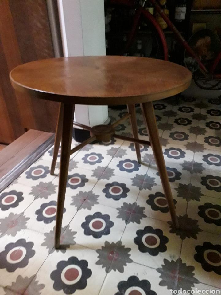 Vintage: Mesita auxiliar 54cm de diámetro 52cm de alta - Foto 2 - 169446437