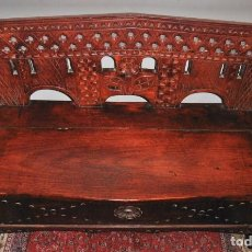 Vintage: BAUL, SILLON DE MADERA TALLADA,MUEBLE AUXILIAR. Lote 170321068