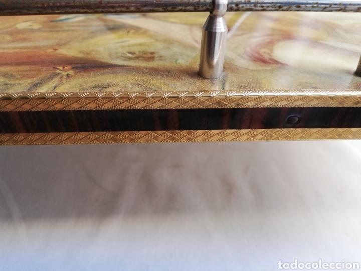 Vintage: MESA CAMARERA. CARRITO.AUXILIAR. METAL Y FORMICA. PLEGABLE. ORIGINAL - Foto 13 - 170892664