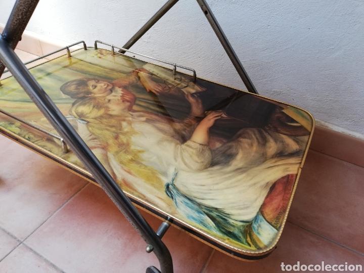 Vintage: MESA CAMARERA. CARRITO.AUXILIAR. METAL Y FORMICA. PLEGABLE. ORIGINAL - Foto 5 - 170892664
